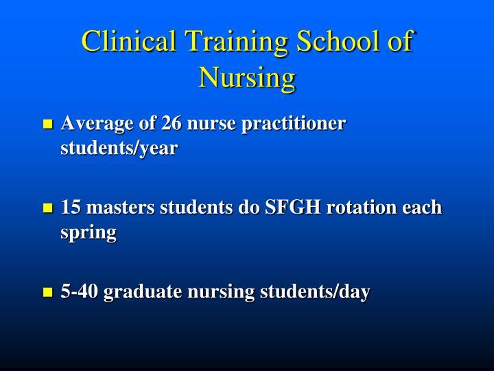 Clinical Training School of Nursing