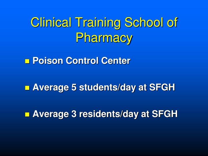 Clinical Training School of Pharmacy