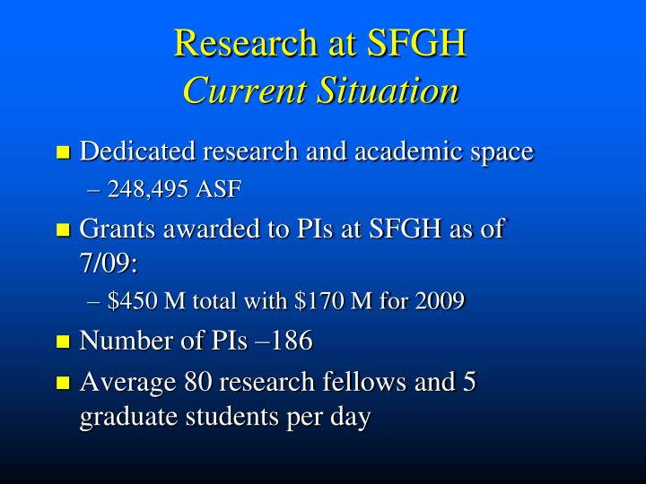 Research at SFGH