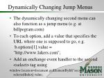 dynamically changing jump menus