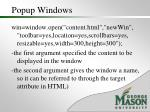 popup windows