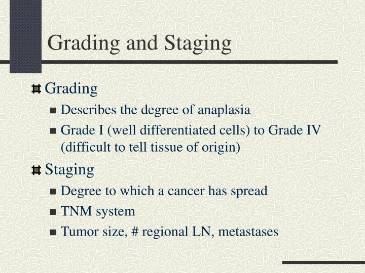 Grading and Staging