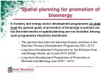 spatial planning for promotion of bioenergy