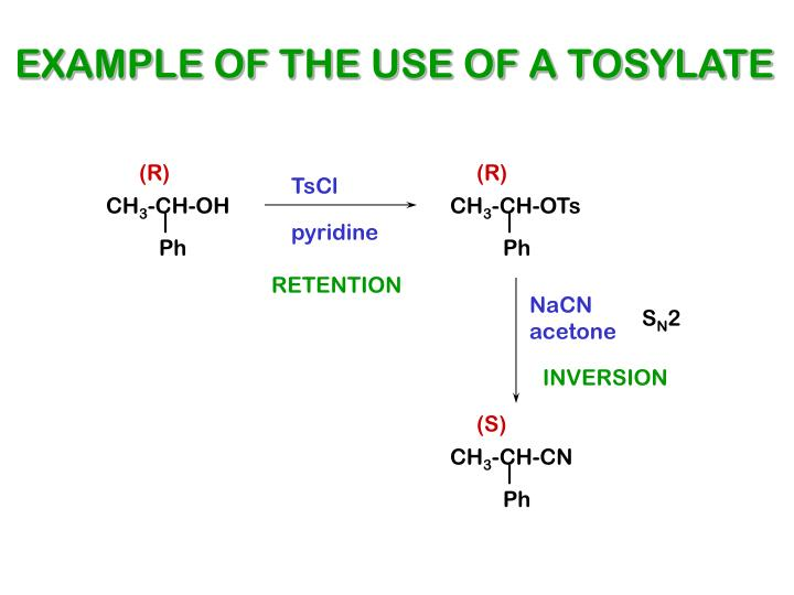 EXAMPLE OF THE USE OF A TOSYLATE