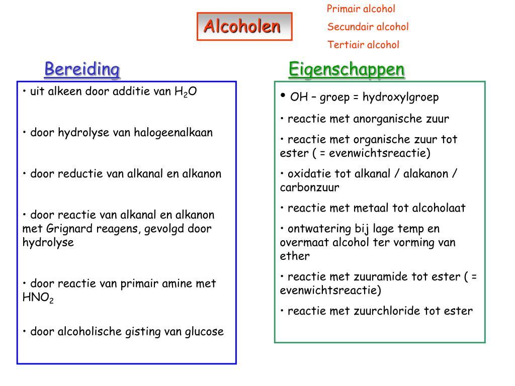 Ppt Alcoholen Powerpoint Presentation Id5524898
