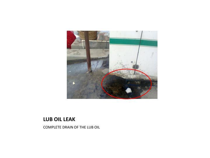 LUB OIL LEAK
