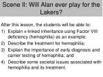 scene ii will alan ever play for the lakers