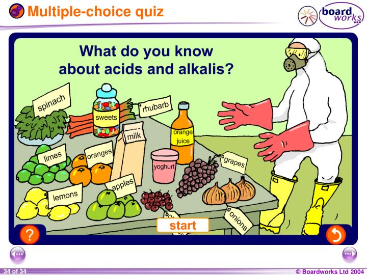 Multiple-choice quiz