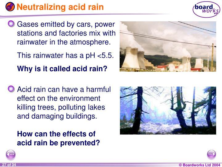 Neutralizing acid rain