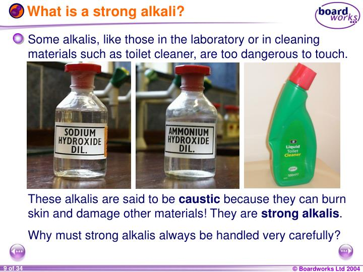 What is a strong alkali?