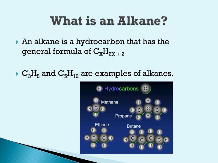 What is an alkane