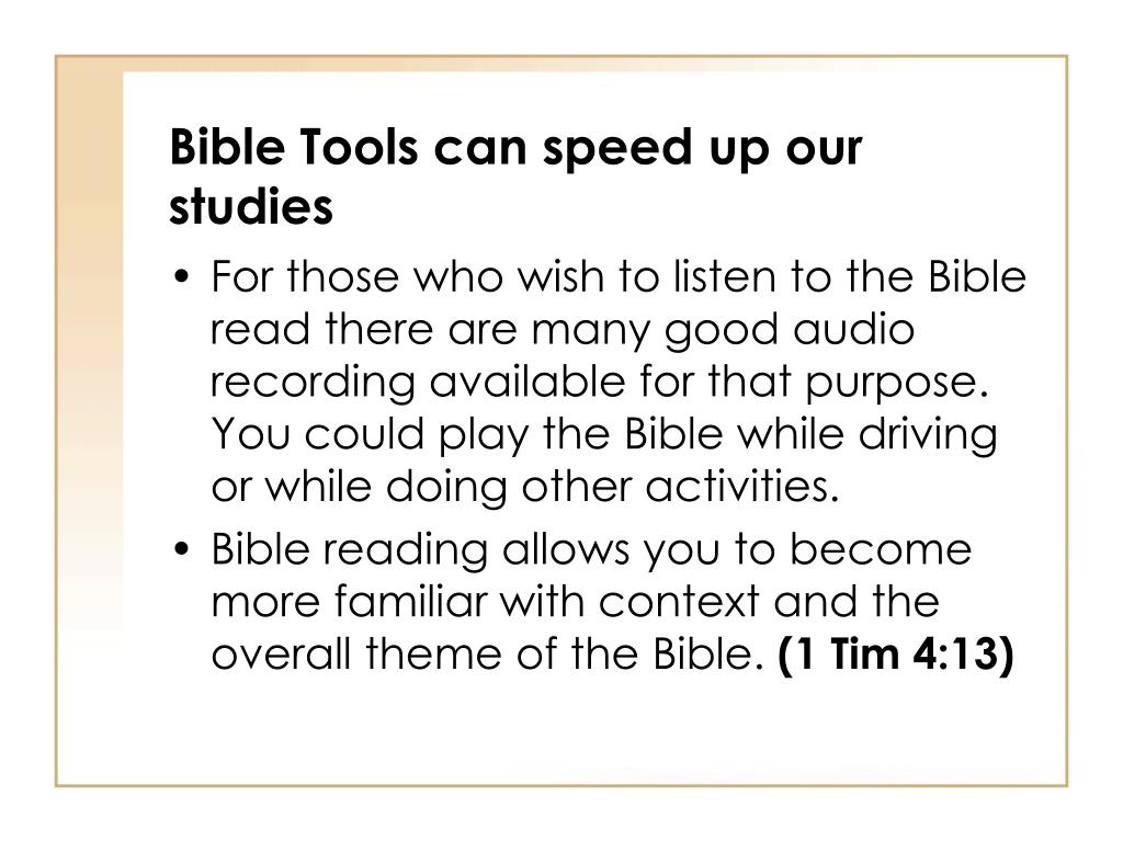PPT - Bible Tools can speed up our studies PowerPoint Presentation