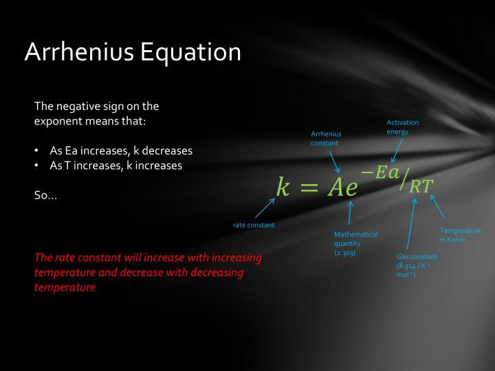 Arrhenius Equation