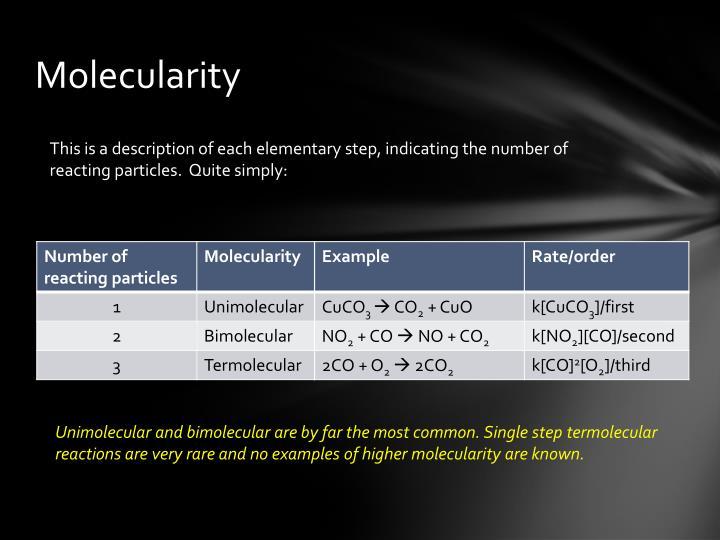 Molecularity
