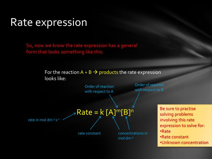 Rate expression