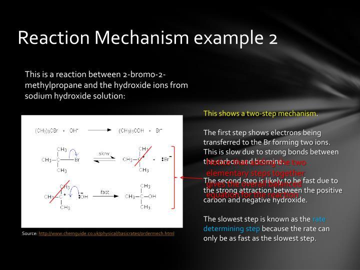 Reaction Mechanism example 2