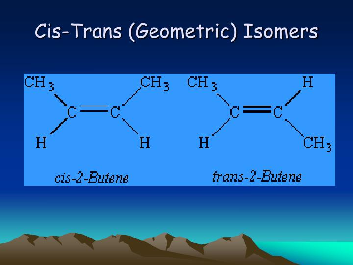 Cis-Trans (Geometric) Isomers
