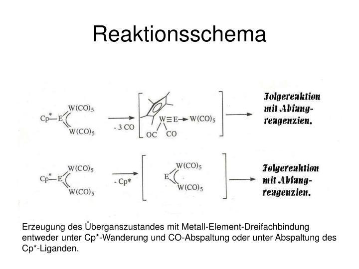 Reaktionsschema