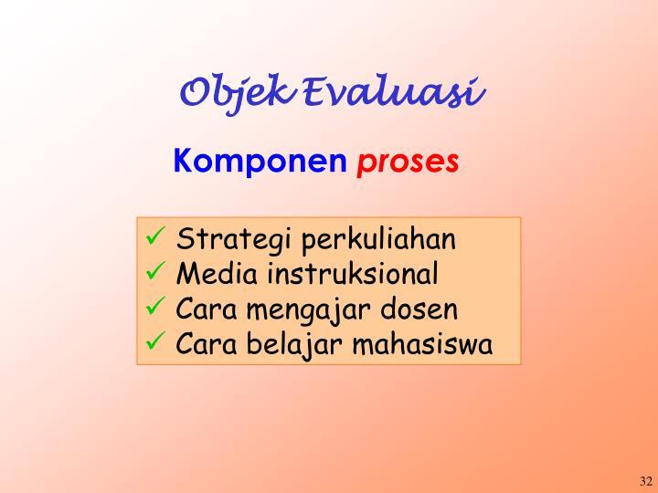 Objek Evaluasi