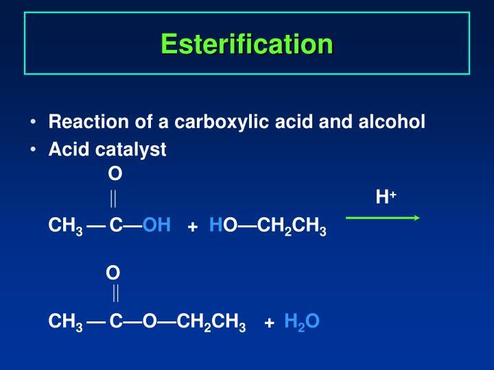 Esterification