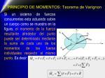 2 principio de momentos teorema de varignon
