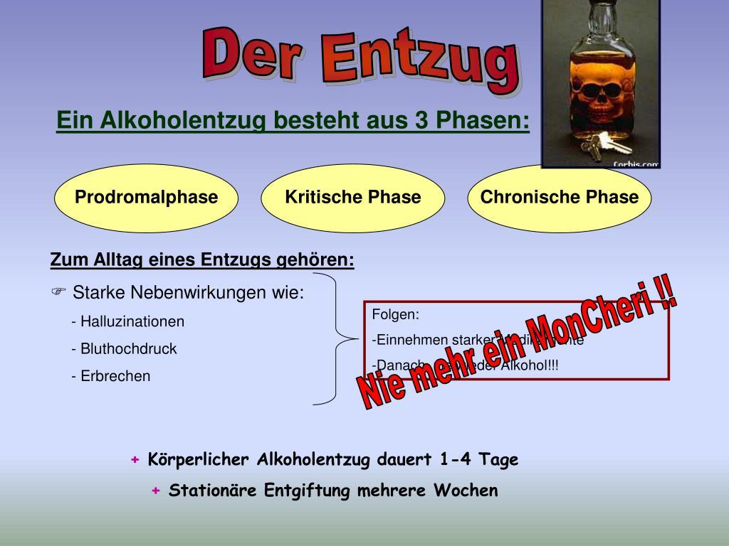 Nebenwirkungen Alkoholentzug