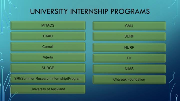UNIVERSITY INTERNSHIP PROGRAMS