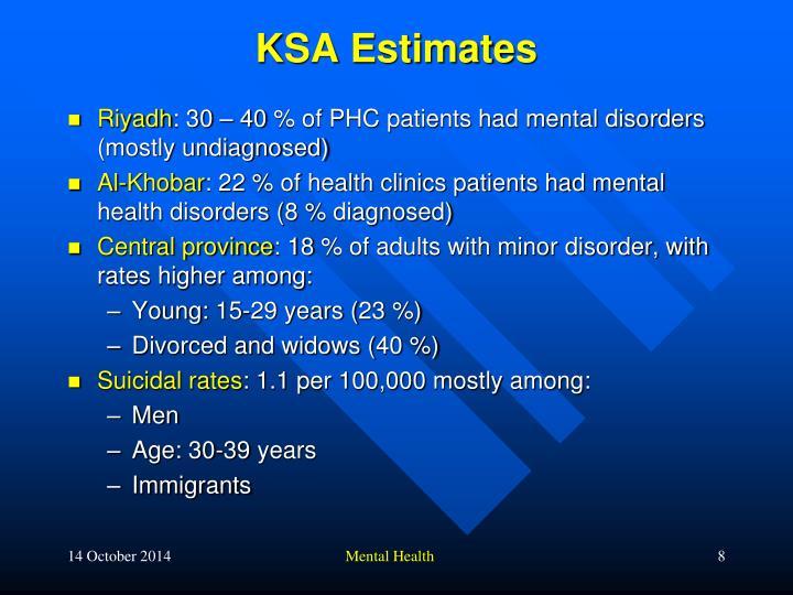 KSA Estimates