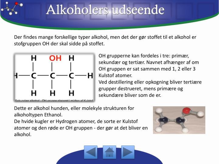 Alkoholers udseende