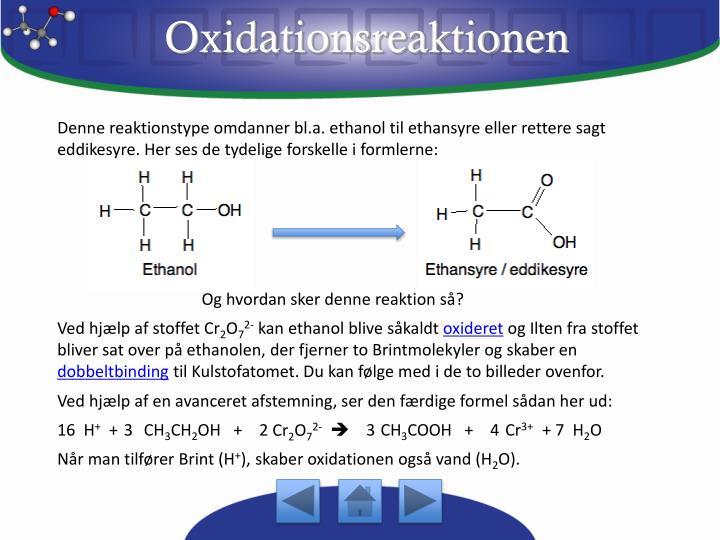 Oxidationsreaktionen