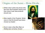 origins of the sunni shiite divide1