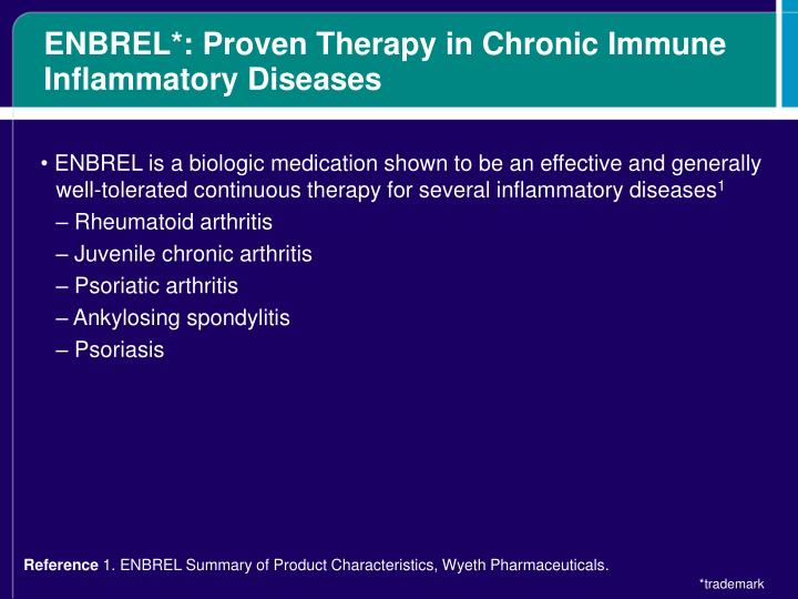 ENBREL*: Proven Therapy in Chronic Immune Inflammatory Diseases