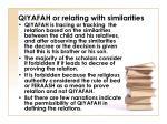 qiyafah or relating with similarities