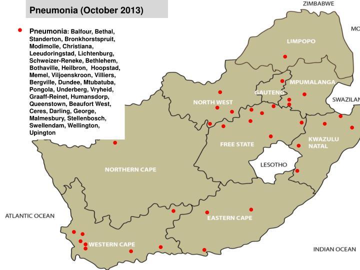 Pneumonia (October 2013)
