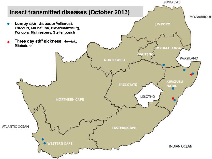 Insect transmitted diseases (October 2013)