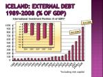 iceland external debt 1989 2008 of gdp1