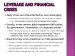 leverage and financial crises