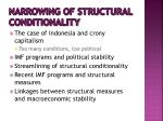 narrowing of structural conditionality