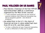 paul volcker on us banks