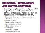 prudential regulations and capital controls