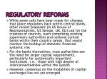 regulatory reforms