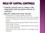 role of capital controls