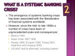 what is a systemic banking crisis