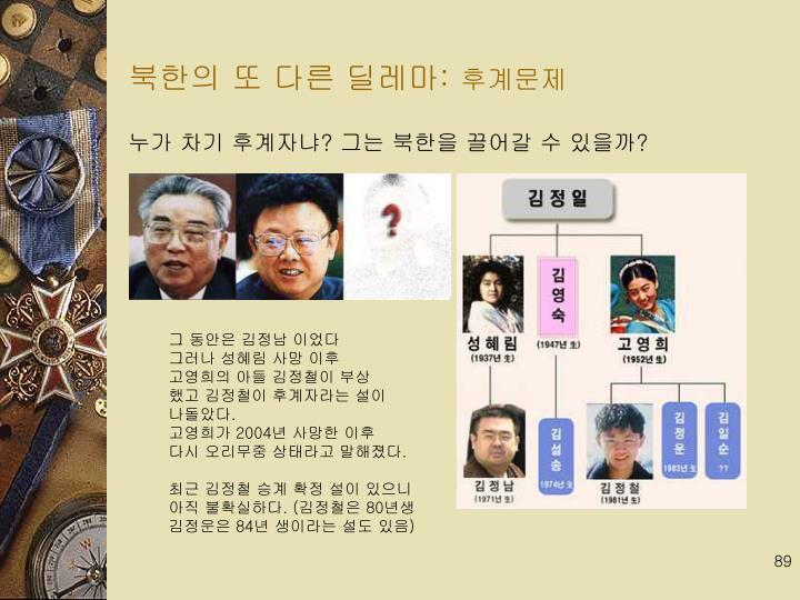 북한의 또 다른 딜레마