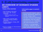 an overview of scenario studies 2007