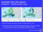 example from the report outlook biodiversity loss