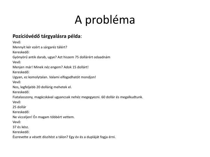 A probl ma