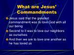 what are jesus commandments