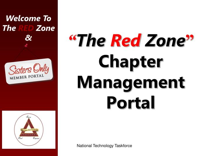 the red zone chapter management portal n.