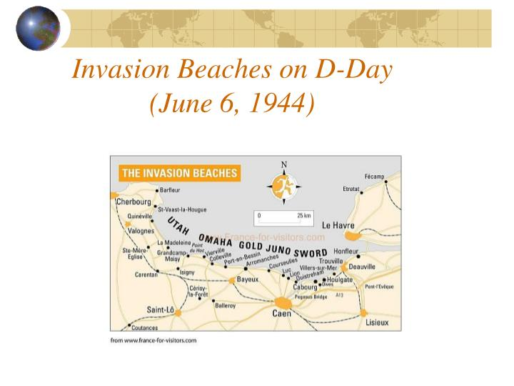 Invasion Beaches on D-Day
